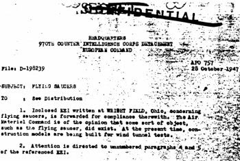 flying saucers document
