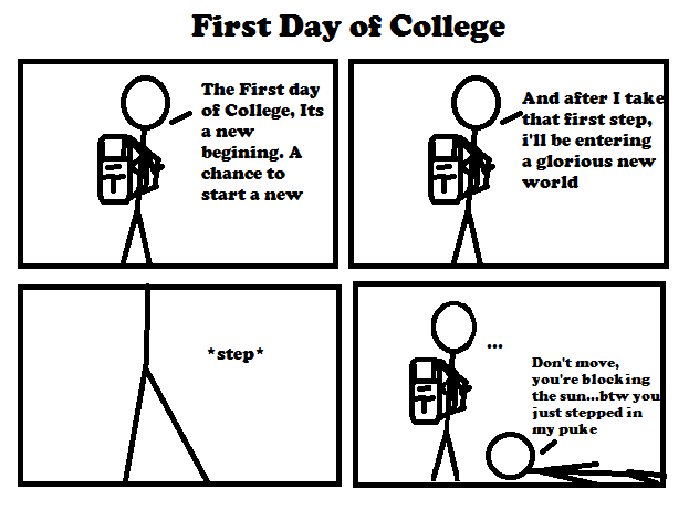 First Day of College by Bic-comics