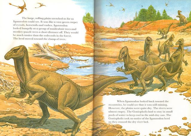 Iguanodon conga line