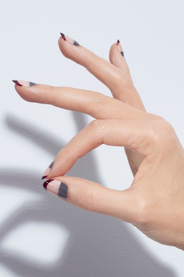Le Fashion Blog Beauty Holiday Party Nail Art Inspiration Christian Louboutin Rear Window Colorblock Manicure Nail Polish Via Nordstrom