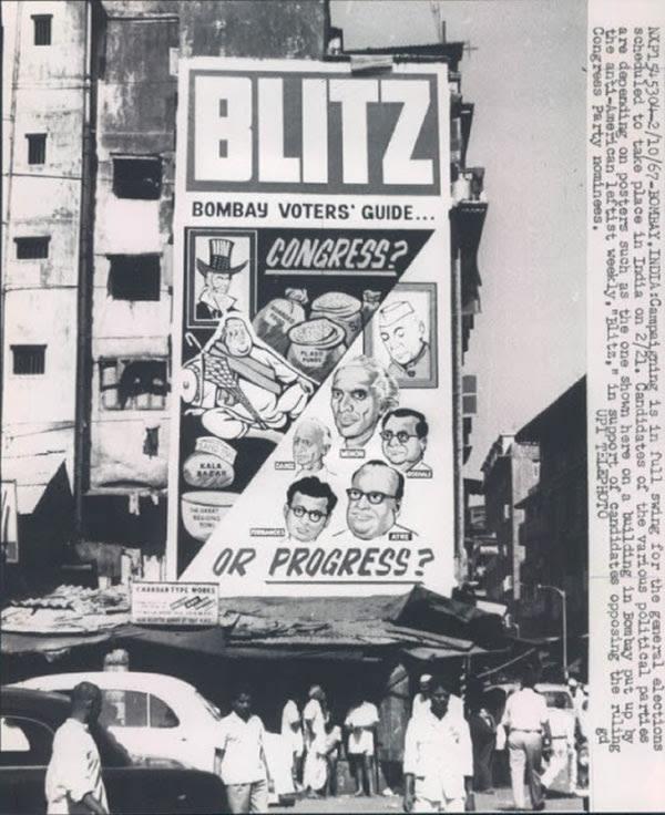 General Elections Campaingning Press Photograh - Bombay (Mumbai) 1967