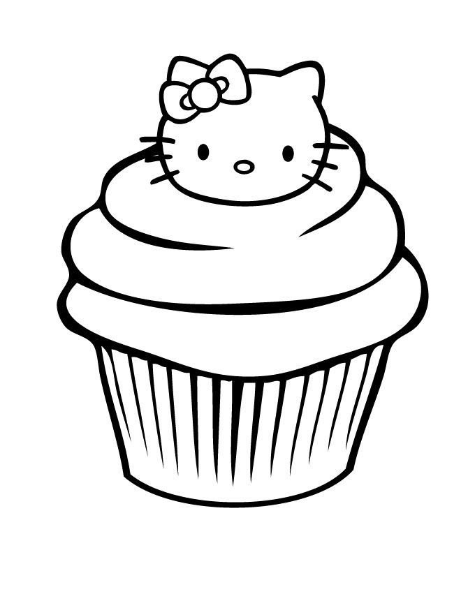 Cupcakes Drawing Colouring Pages Clip Art Library