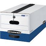 Liberty Plus Storage Box, Letter, String-button, white-blue, 12-carton