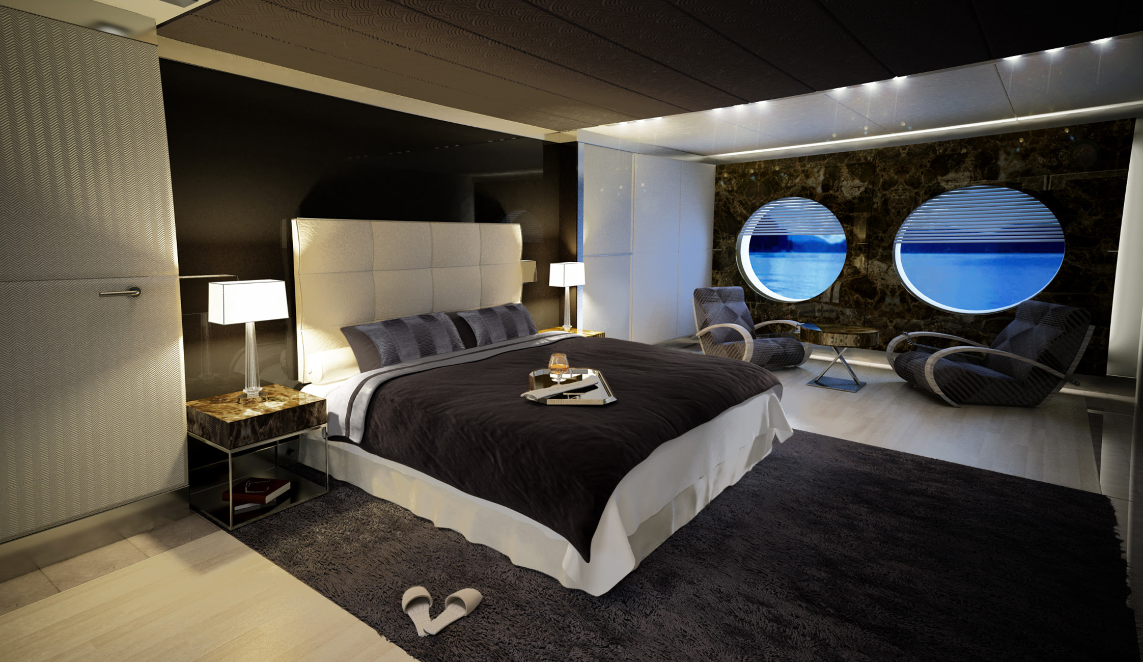 Icon 53 Superyacht Interior Design by Hot Lab - Owner Suite