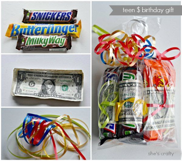 candy bar gift idea money