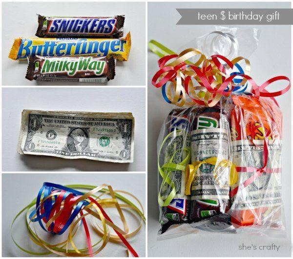 candy bar gift idea money