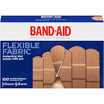 Band Aid Flexible Fabric Bandages, Assorted - 100 count