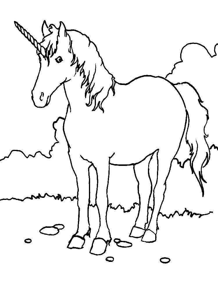 Imprimir Dibujos Para Colorear Unicornio Para Niños Y Niñas