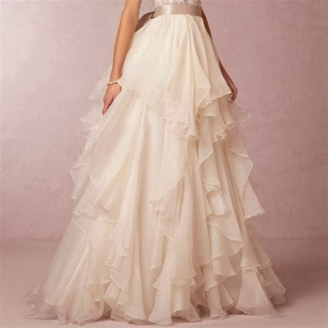 Ivory Chiffon Satin ribbon Waistline Floor Length Over