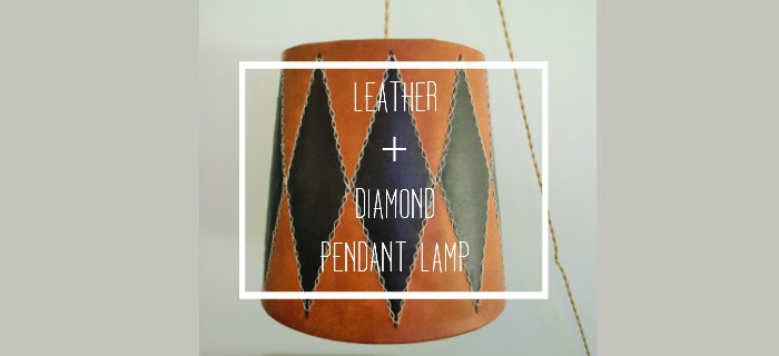 DIY LEATHER AND DIAMOND PENDANT LAMP