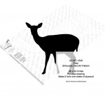 Deer Yard Art Full Size Woodworking Pattern - fee plans from WoodworkersWorkshop® Online Store - deer,wildlife,animals,ungulates,silhouettes,yard art,painting wood crafts,scrollsawing patterns,drawings,plywood,plywoodworking plans,woodworkers projects,workshop blueprints
