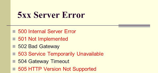 What are the types of HTTP server errors and how to fix them?