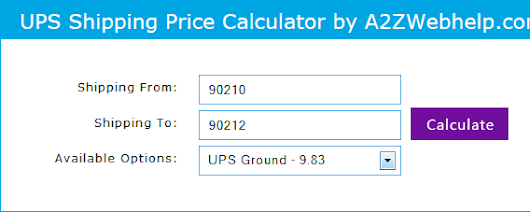 Calculate UPS Shipping Rate With PHP without Page Load