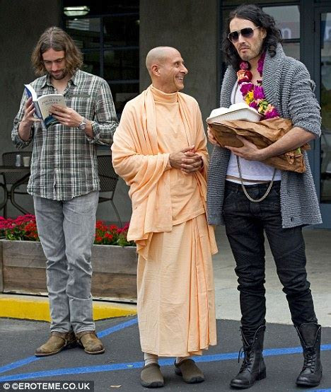 Russell Brand with Krishna guru in LA ahead of his Indian