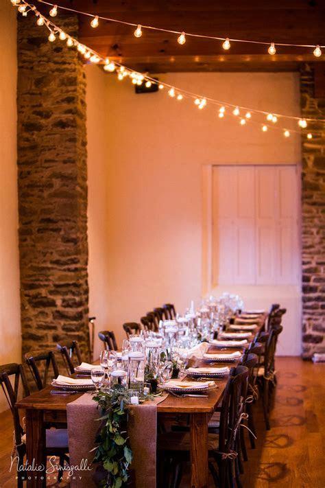 Indoor Farm Tables, Bistro Lights   McCarthy Tents