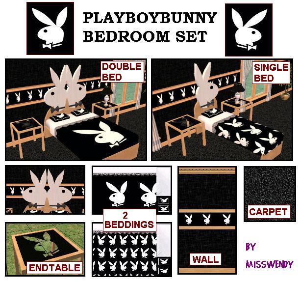 The Sims Zone Bunny Bedroom Set