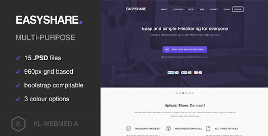 Easyshare - Filesharing PSD Template