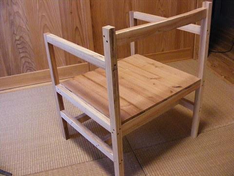 木の椅子 試作