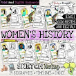 WOMEN'S HISTORY MONTH, BIOGRAPHIES, TIMELINES, SKETCHNOTES, POSTERS BUNDLE