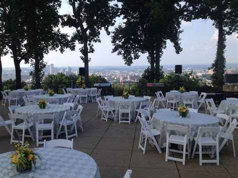 reception on the City Overlook at Vulcan Park and Museum