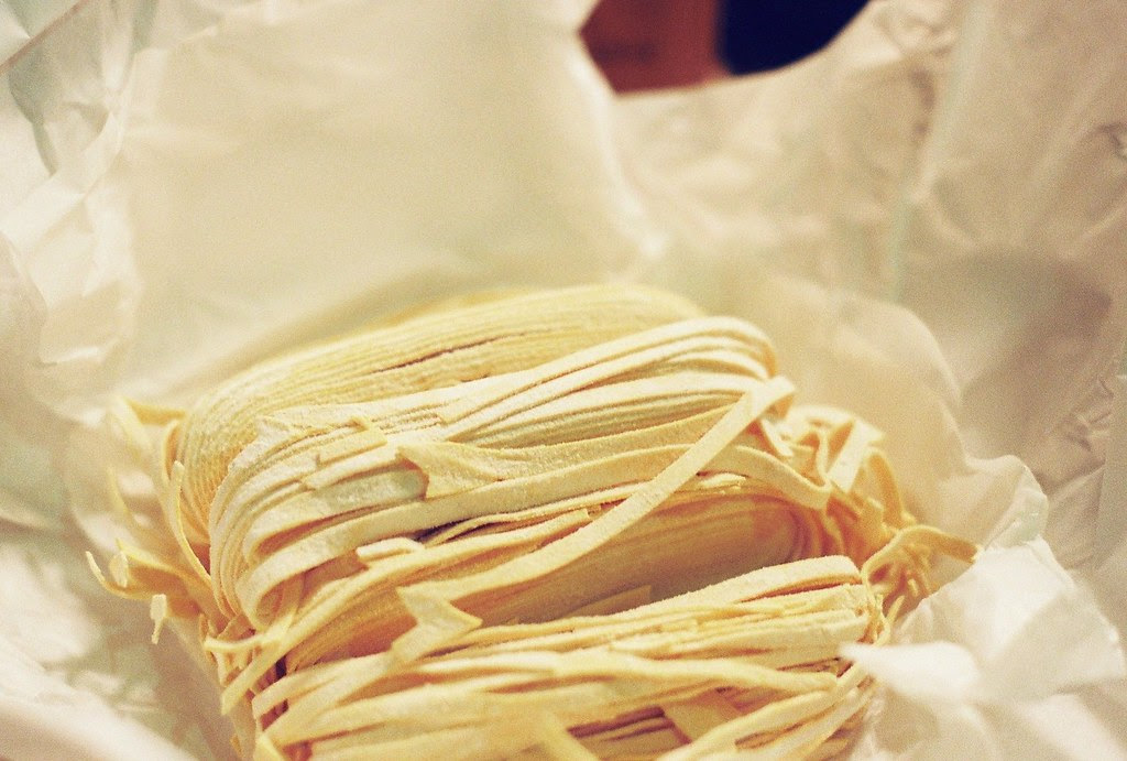 fresh egg noodles from Lucca