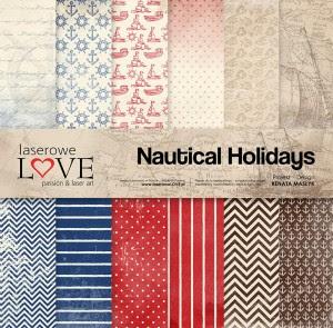 Zestaw papierów 30x30 cm - Nautical Holidays - Laserowe LOVE