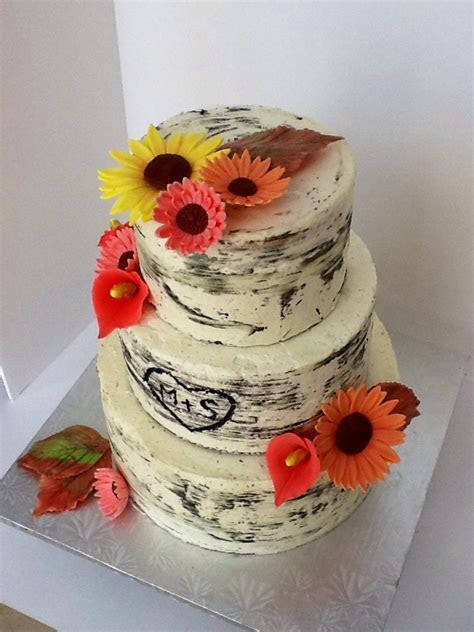 Birch Tree Wedding Cake   CakeCentral.com