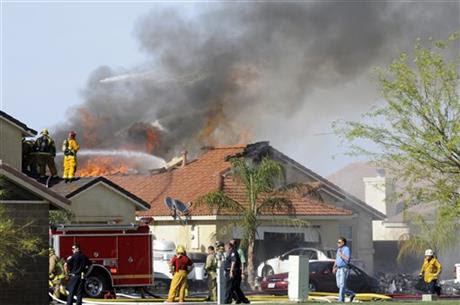 Fear, fire but no injuries in California jet crash
