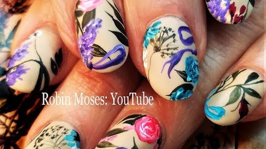 Robin moses nail art google beautiful spring nails wisdom designer flower nail art design for beginners 2018 prinsesfo Image collections