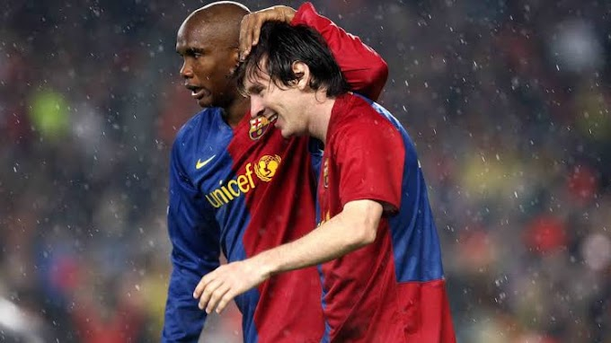"""I am happy because my son Messi has stayed at his house - Samuel Eto'o delighted with Messi's decision to stay at Barcelona"