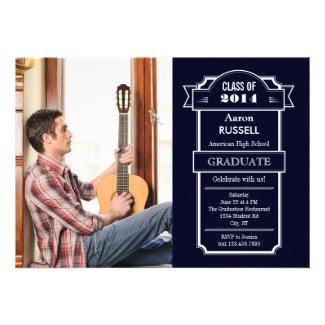 Elegant Banner Graduation Invitation