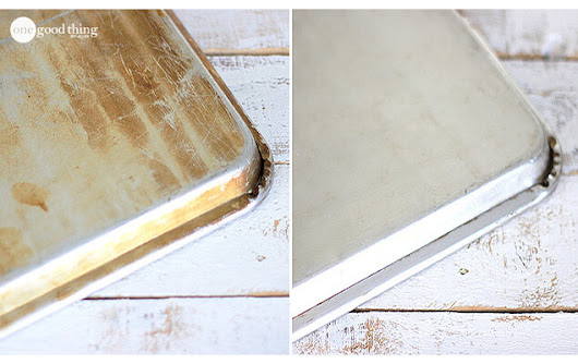 Make Your Old Cookie Sheets Look Like NEW Again! - One Good Thing by Jillee