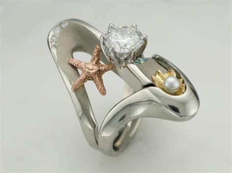 The Romantic Ocean Wedding Sets   TamRon Jewelry