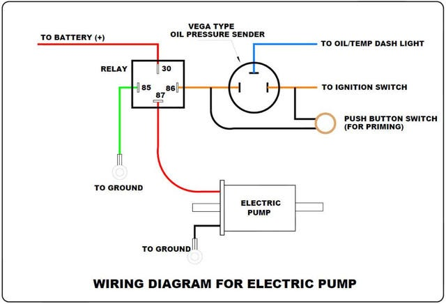 Wiring Diagram For An Electric Fuel Pump And Relay