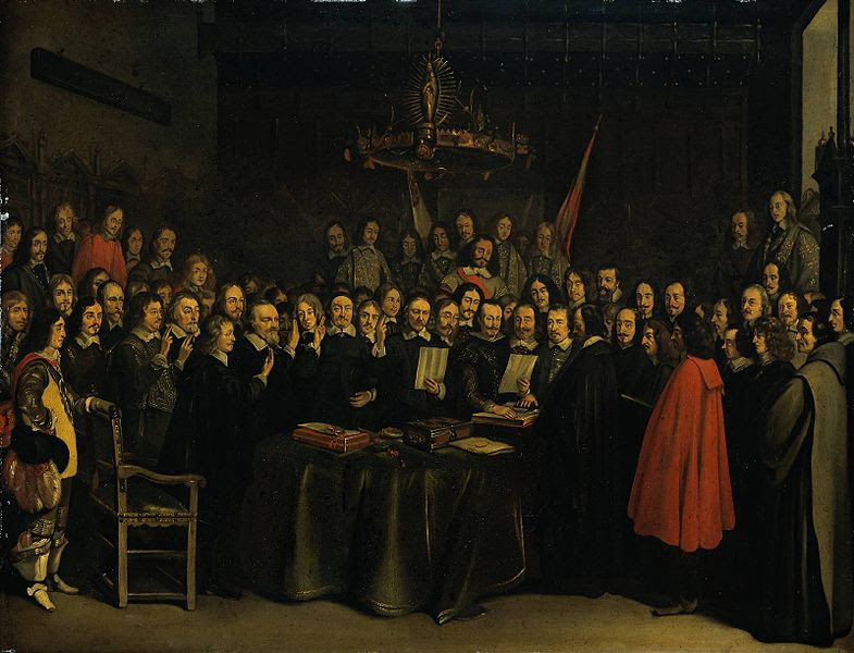File:The Ratification of the Treaty of Munster, Gerard Ter Borch (1648).jpg