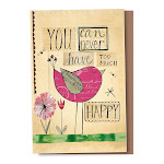 Tree-Free Greetings - Never Too Happy Eco Note Cards - 12 Count