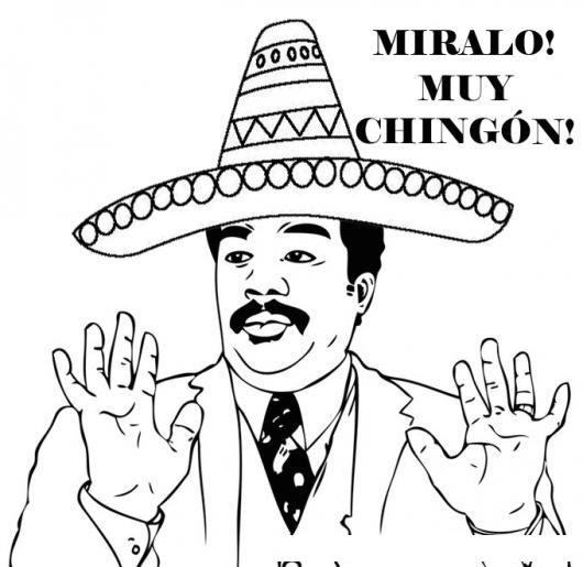 Meme Charro Dibujo De Meme Mexicano Para Pintar Y Colorear