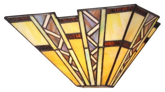 Tiffany Style Mission Design 1-light Wall Sconce - contemporary ...