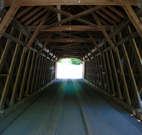 Inside the Green River Covered Bridge