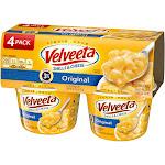 Velveeta Shells & Cheese, Original Pasta Sauce - 4 count, 2.39 oz cups