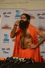 Baba Ramdev Demonstrates Stomach Exercise by firoze shakir photographerno1