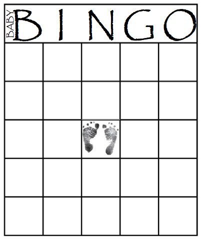 Printable Bingo Cards For Baby Shower