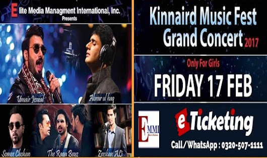 KINNAIRD MUSIC FEST TO ROCK KINNAIRD COLLEGE | eTicketing.pk | e-Tickets for Concerts, Theatre, Sports and Entertainment events in Pakistan