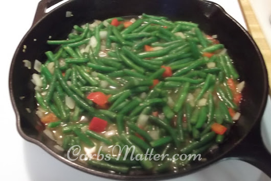 Fresh Green Beans with Bacon - Carbs Matter