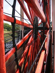Looking through the spokes of the Lady Isabella