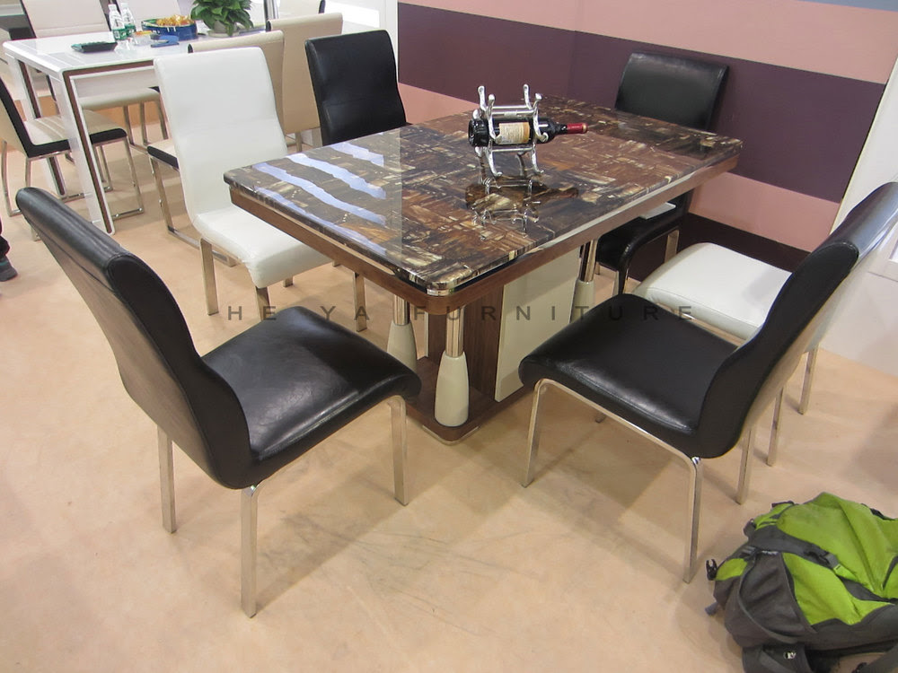 6 Seaters Marble Top Dining Table Designs In India - Buy ...