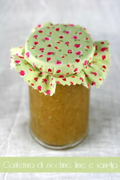 Confettura di zucchine lime vaniglia