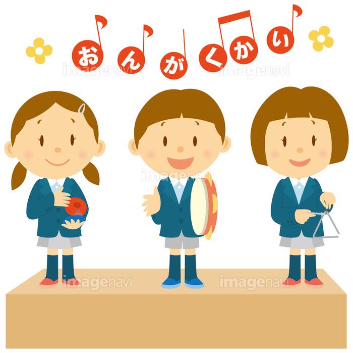 音楽会で演奏する園児達の画像素材14404668 イラスト素材なら