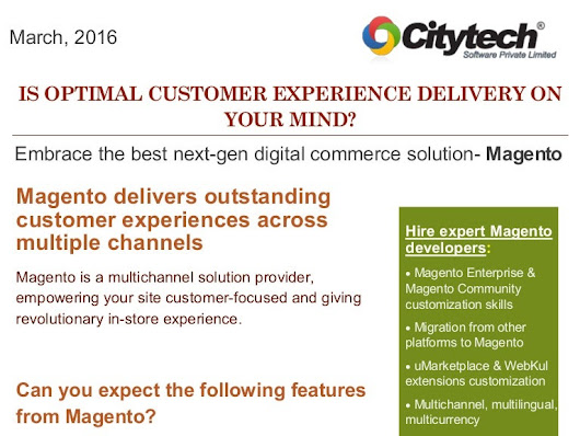 Magento Ecommerce Customization Services by Citytech Software