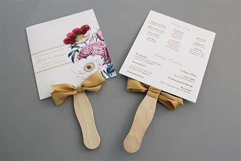 wedding program fans diy projects craft ideas